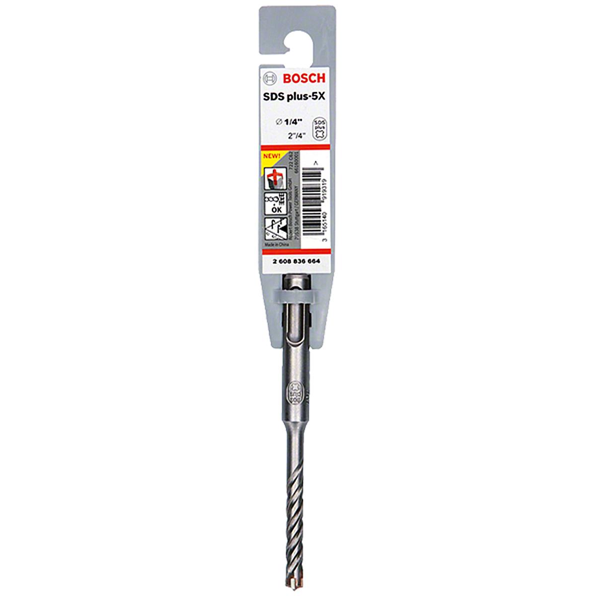 Broca Acero 4In SDS Plus Ideal Concreto Taladro 1/4 In Bosch