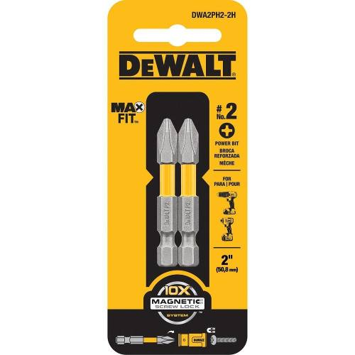 Set De 2 Puntas Phillips Maxfit #2 X 2  Dwa2ph2-2h Dewalt