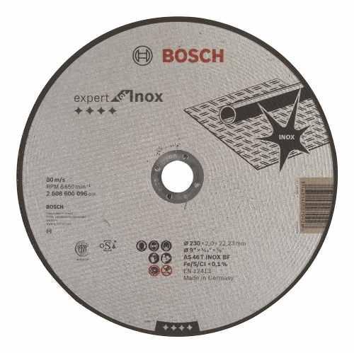 Disco Abrasivo Corte Expert Inox Cto Recto 9 X5/64  Bosch