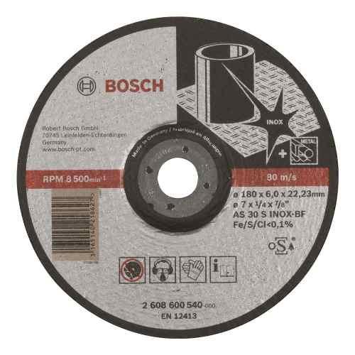 Disco Abrasivo Desbaste Exp Inox Cto Deprimido 7 X1/4  Bosch