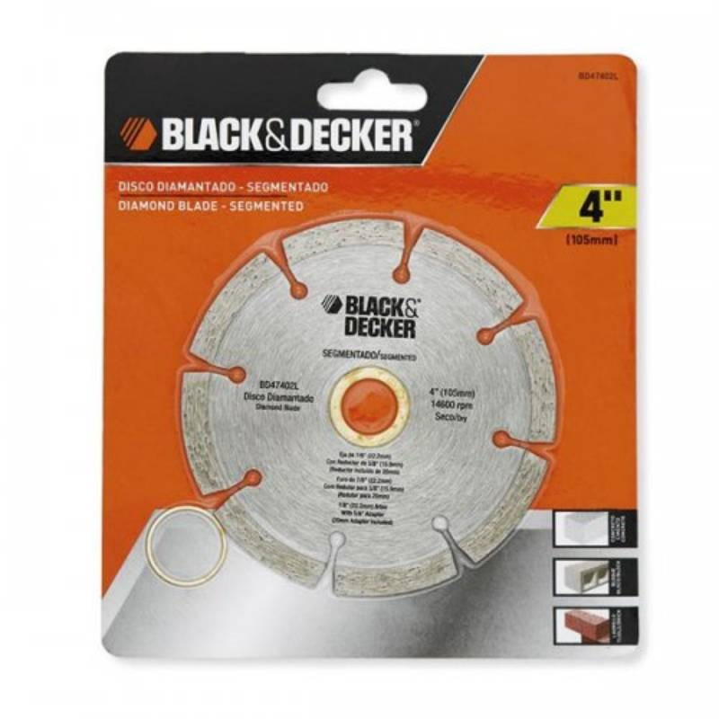 Disco Diamantado Segmentado 4 In X 7/8 In Black & Decker
