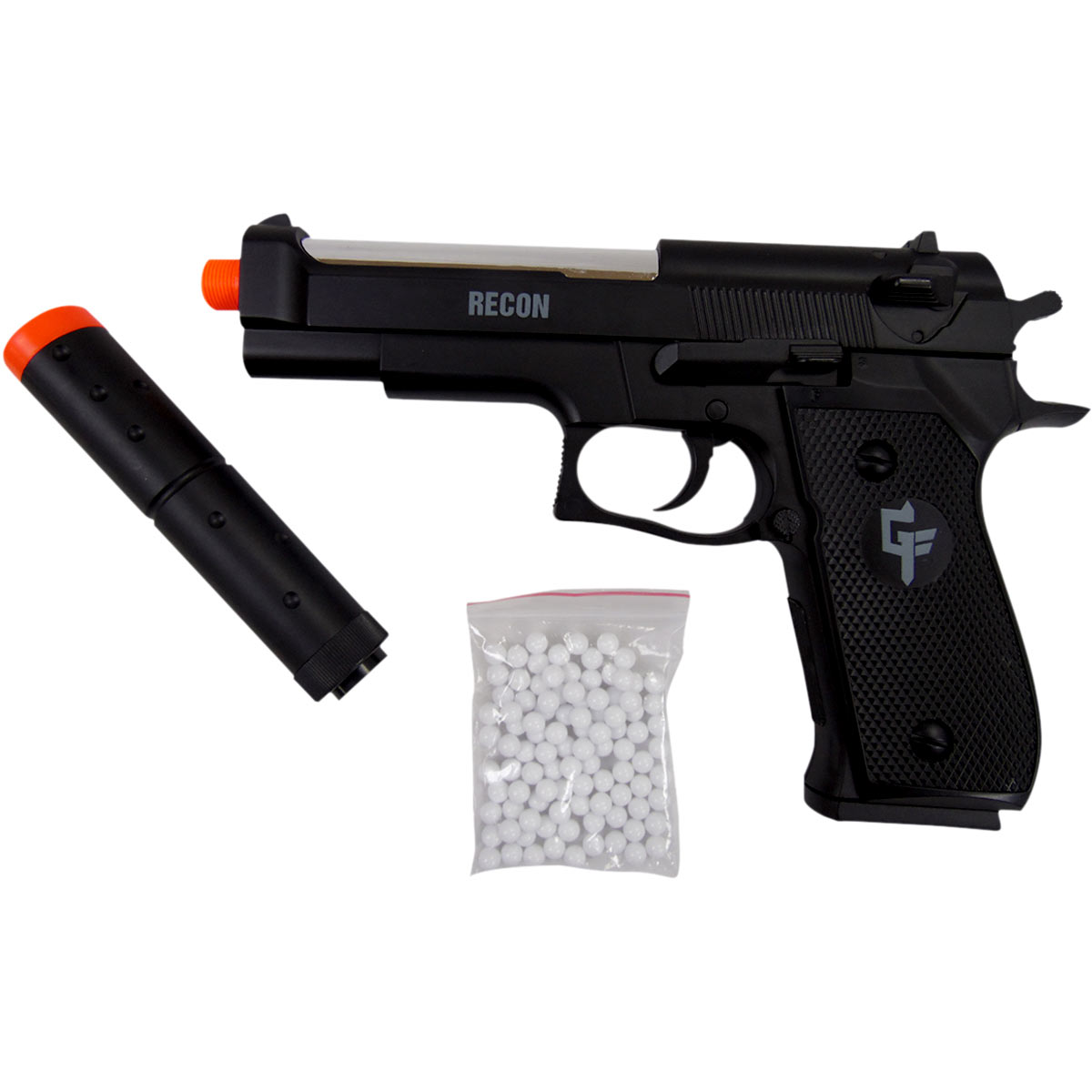 Pistola Balines Airsoft Bbs Kit Funda Municiones Mendoza