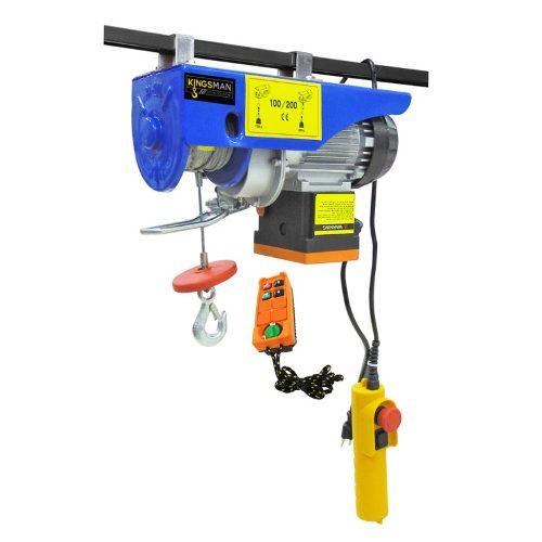 Polipasto Electrico Control Remoto 20m Carga 100 A 200 Kilos