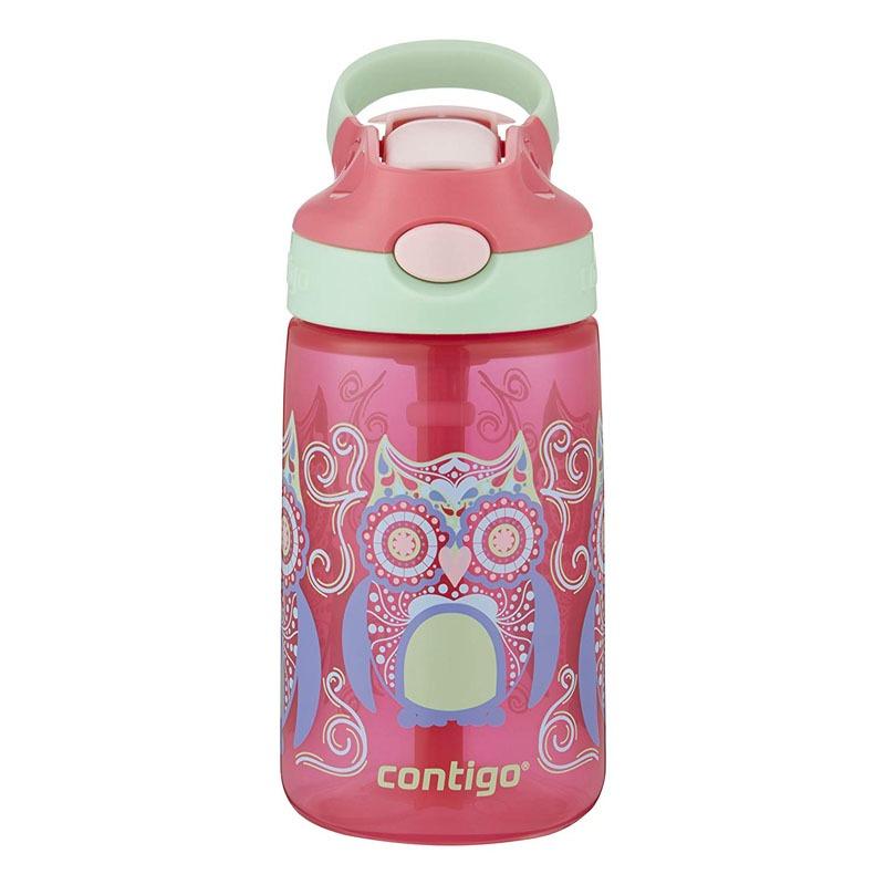 Botella Escolar Para Niños 14oz Autoseal Buho Rosa Contigo