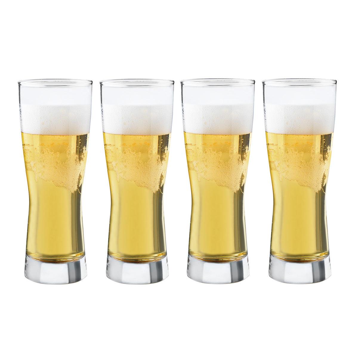 Juego Vasos Vidrio 4 Pzas Cerveceros Bravess Cerveza Libbey