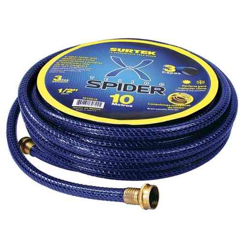 Manguera Spider 1/2in Armada Conector Metálico 15m Surtek