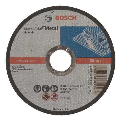 Disco Abrasivo Corte Std Metal Cto Recto 4-1/2 X1/16 Udbosch