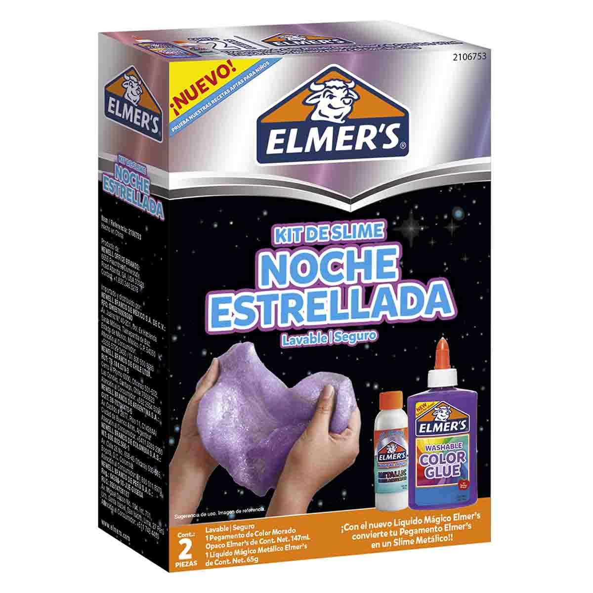 Kit Set Juego Slime Noche Estrellada Morado 2 Piezas Elmers