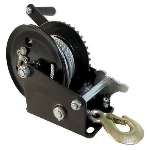 Malacate Winch Negro 2500 Lbs Y Cable 10 M 1,12 T B