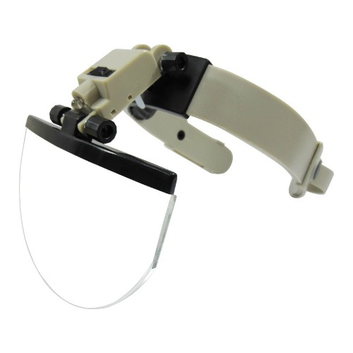 Lupa Optovisor Careta Diadema Zoom 2x A 5.5x Con Luz Led Obi