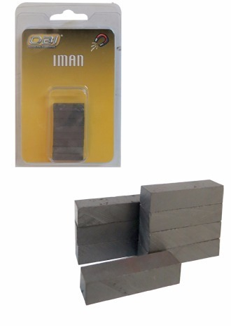 Iman Rectangular Ceramica 3/16x1/4x7/8 Blister Con 8 Piezas