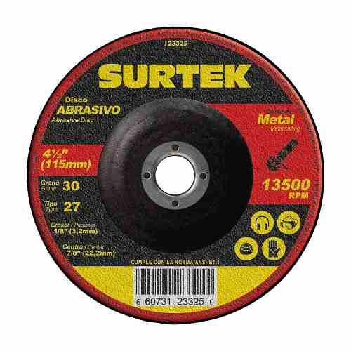 Disco T/27 Metal 4-1/2x1/8  123325 Surtek