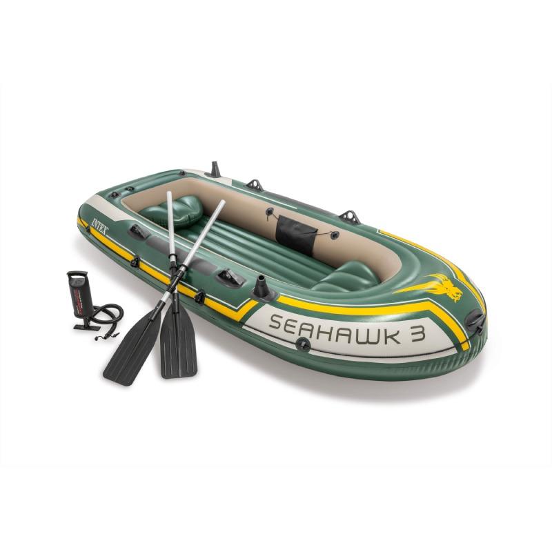 Lancha Inflable Seahawk 3 Equipada Con Remos Adulto Intex
