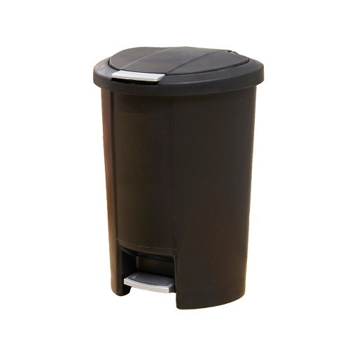 Basurero Negro Con Doble Mecanismo 50 L. Or-435013 Namaro