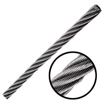 Cable De Acero Galvanizadoen Rollo 7x7 1/4 Y 915 Metros Obi