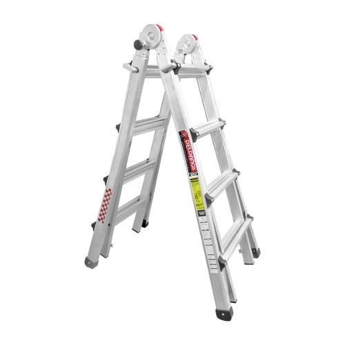 Escalera Aluminio Multiposiciones Telescopica 2.85 M 150 Kg