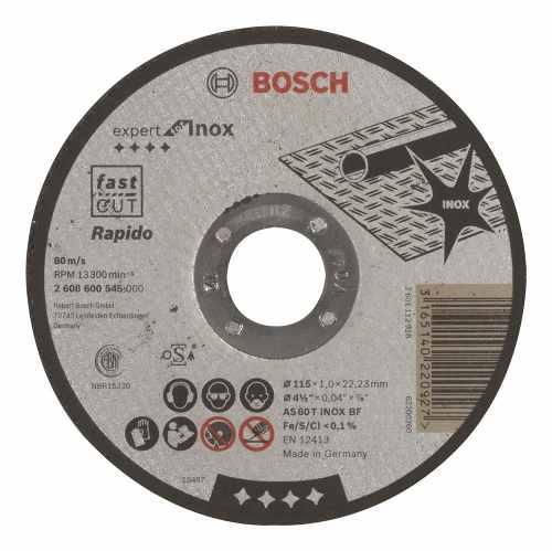 Disco Abrasivo Corte Exp Inox Cto Recto 4-1/2 X3/64 Ud Bosch