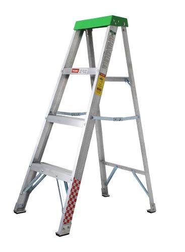 Escalera Tijera Aluminio 3 Peldaños Tipo Iii 706717 Peldaños