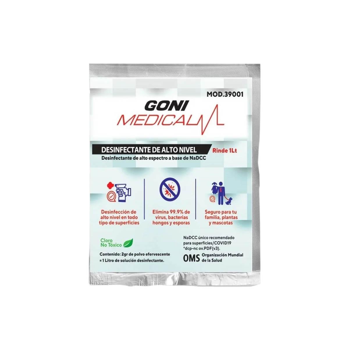 Desinfectante Sanitizante Antibacterial Nadcc Rinde 1lt Goni