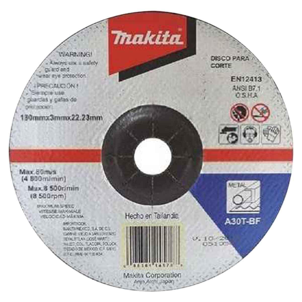 Disco Abrasivo Desbaste Corte Metal 4 1/2 De Esmeril Makita