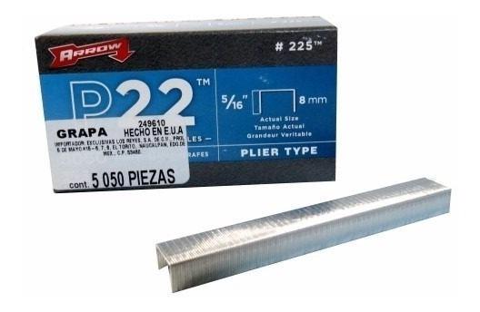 Grapa Para P22 5/16 Pulgadas Con 5050 Piezas 225 Arrow 50Pzs