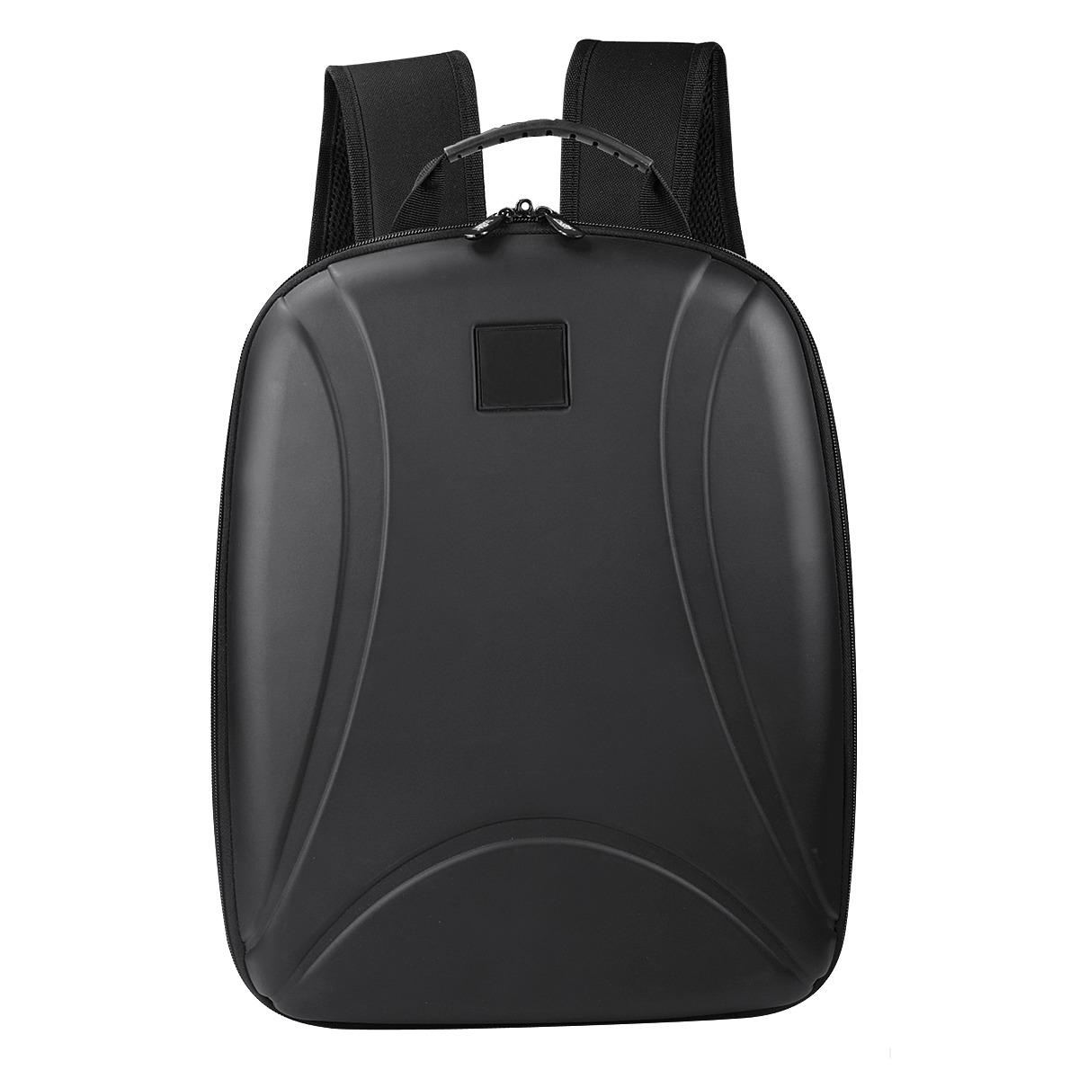 Back Pack Premium Negro Con Compartimento Frontal