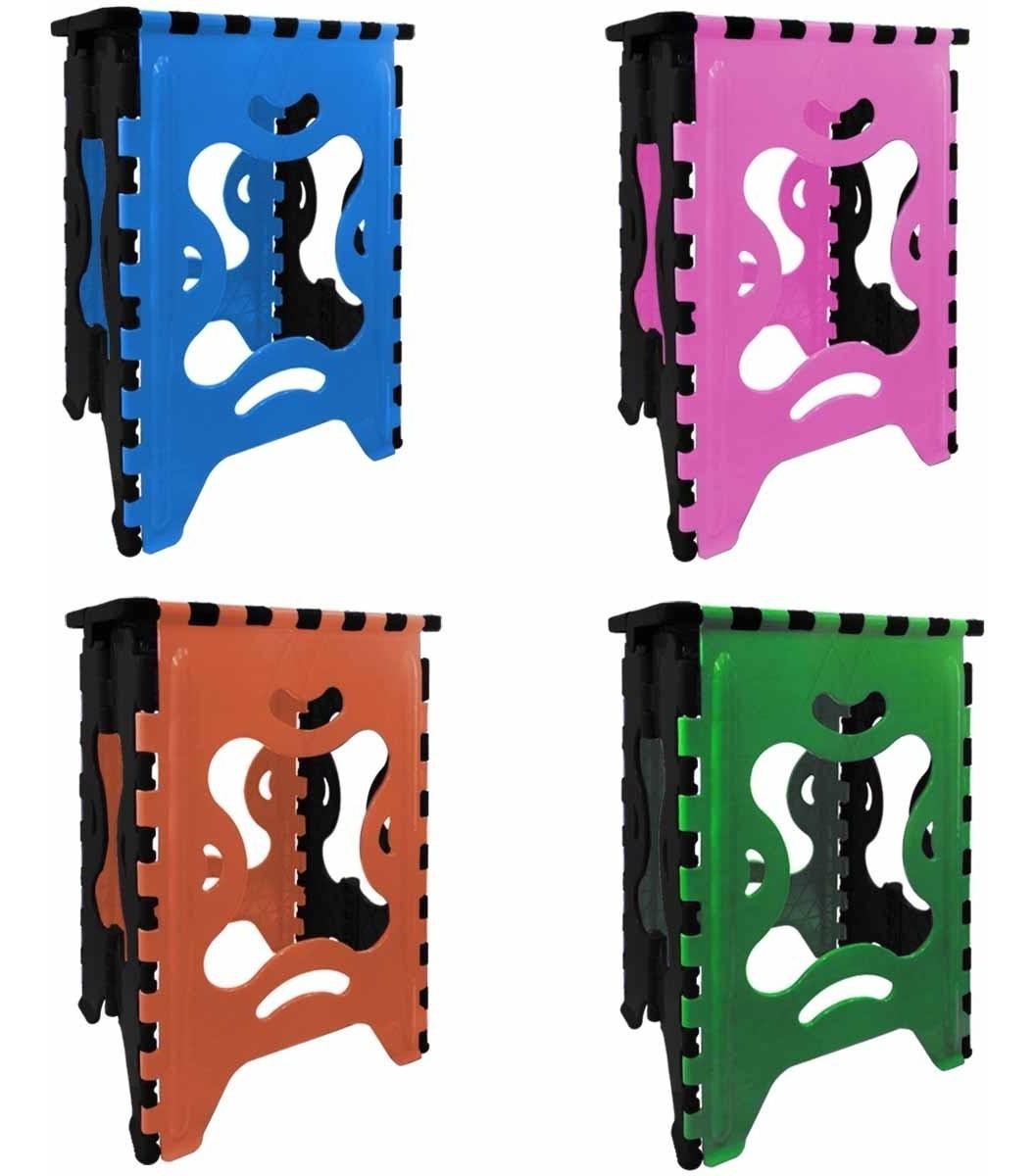 Juego 4 Bancos Plegable Plastico 120 Kg Colores Envio Gratis