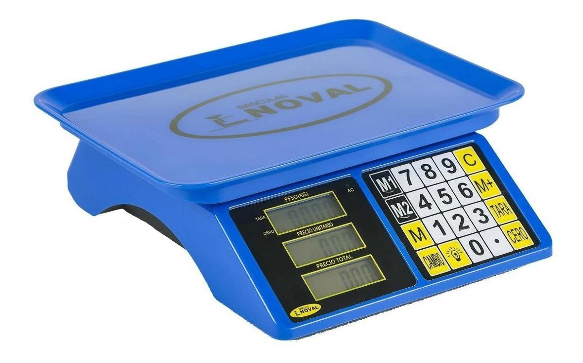 Báscula Comercial Digital Noval Eco-15tn 20 Kg 110v/220v (bivolt) Azul