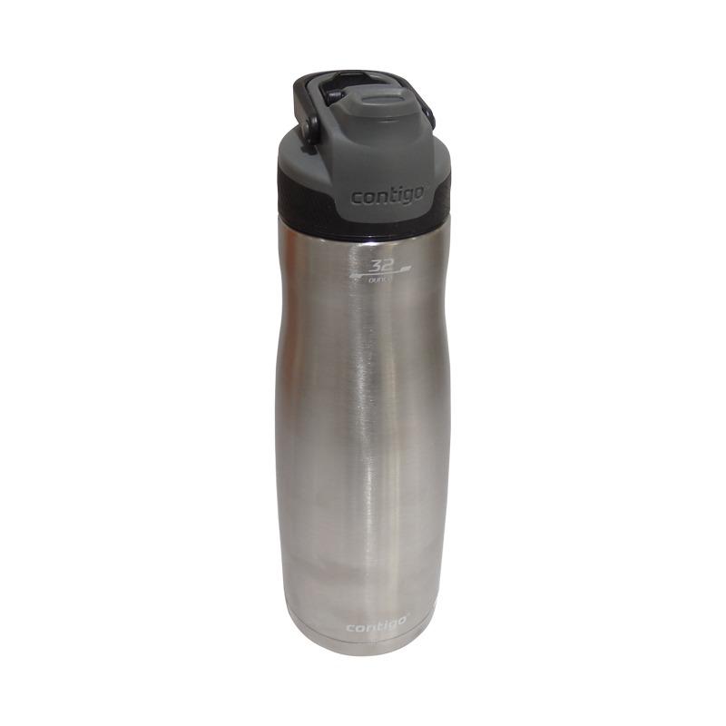 Botella De Agua 32oz Acero Inox Autoseal Chill Negro Contigo