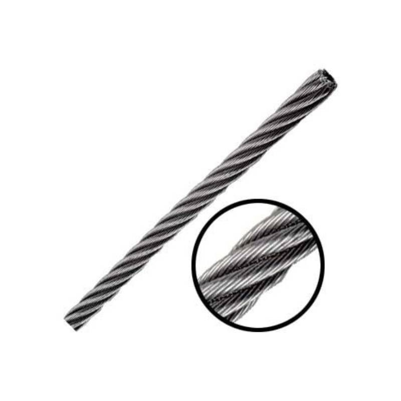 Cable De Acero Inoxidable En Rollo 7x19 5/32  1000 M Obi