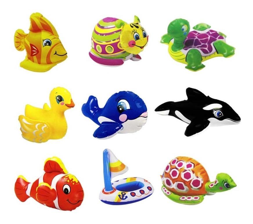 Kit Juguetes De Tina Animales Inflables Infantil Intex