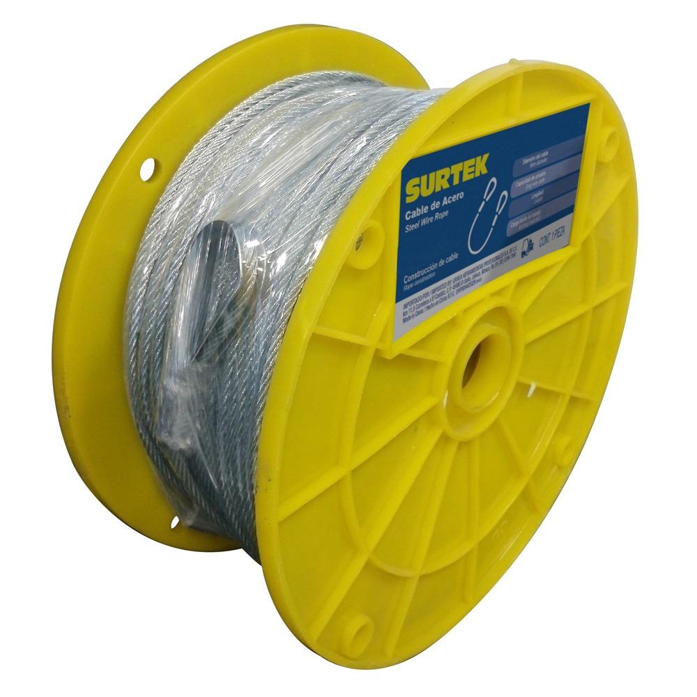Cable Acero Pvc 7x19 1/4 X75m Cap218 Surtek