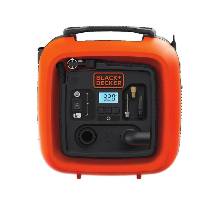 Bomba Para Inflar Multiproposito 160psi 12v Black And Decker