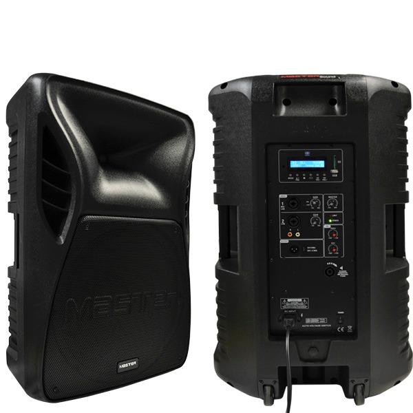 """Bafle profesional, amplificado de 15"""" pulgadas con lector de USB y SD"""