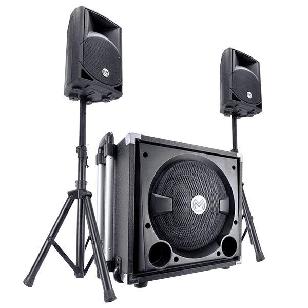 Sistema de audio profesional y amplificado de 9,000 watts