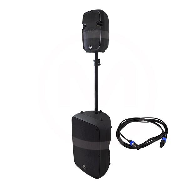 """Sistema de audio profesional con 2 bocinas incluidas (15"""" y 8"""")"""