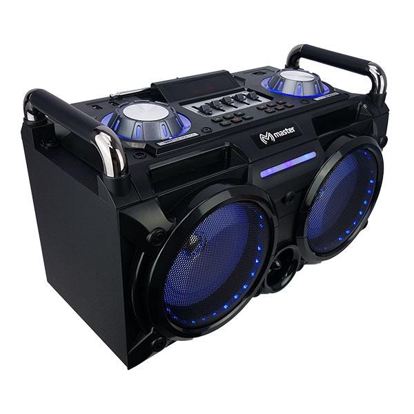 Sistema de audio tipo DJ, 2 bluetooth y 2 entradas de micrófono