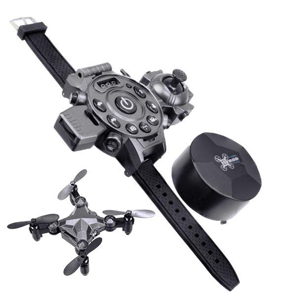 Mini drone cuadracópero con control remoto (reloj)