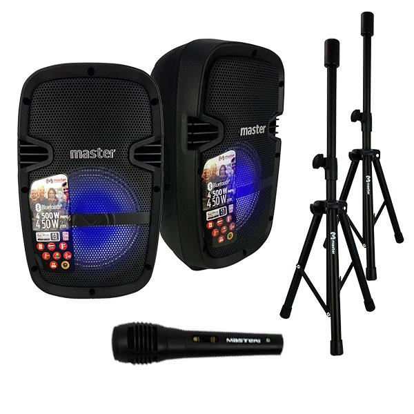 """Sistema de audio de 8"""" con accesorios y manejado por APP"""