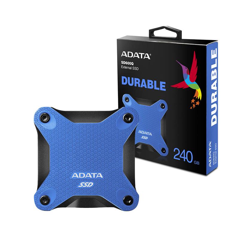 Disco Duro Estado solido 240 Gb Ssd Externo Adata Sd600 Azul