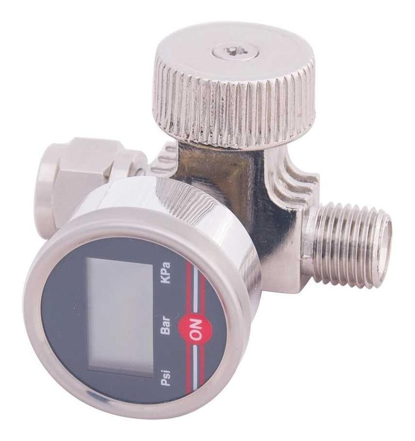 Regulador Digital De Aire Con Manómetro 1/4  4215 Goni