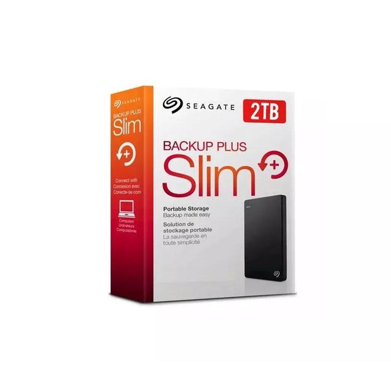 Disco Duro Externo 2.5 Seagate 2tb Backup Plus Slim Negro