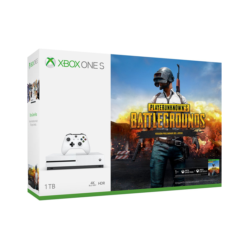 Consola Xbox One S, 1 TB, PlayerUnknown's Battlegrounds -  BundleEdition