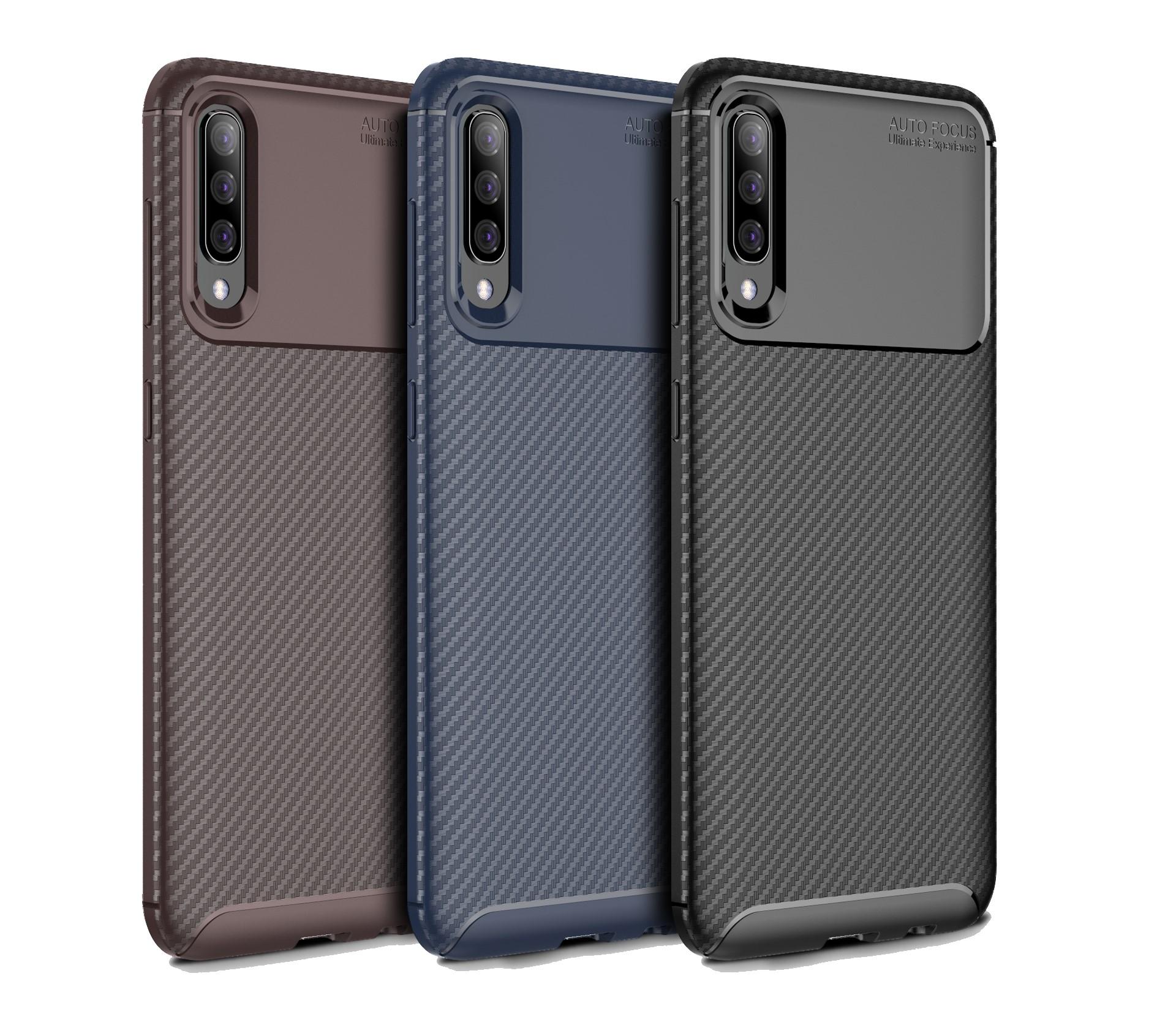Funda Case De Carbono Disponible para Samsung: M10, M20, A20, A30, Huawei Y6 2019, Xiaomi Note 7, Mi9