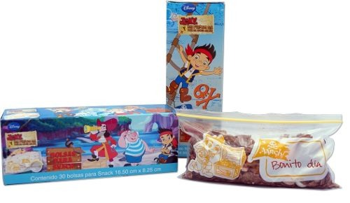 Bolsa Para Snack Jake 16.5 X 8.25 Cm 30 Pzas Disney 82040 St
