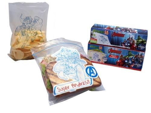 Bolsa Para Sandwich Avengers 16.5 X 14.9 Cm 25 Pzas Marvell