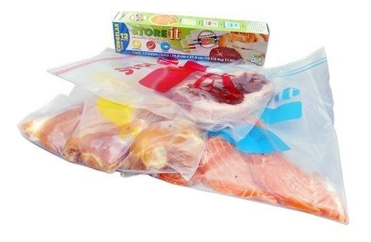 Bolsa Para Congelar Colors 26.8 X 27.9 Cm 12 Pzas 82110 Stor
