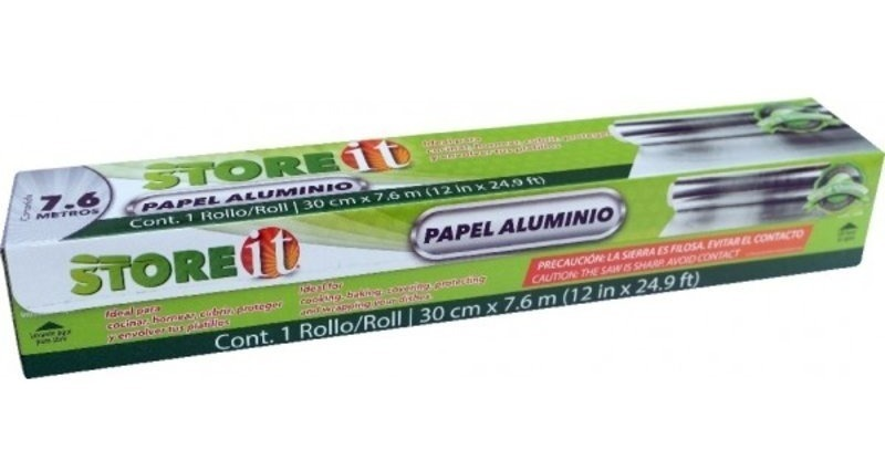 Papel Aluminio 30 Cm X 7.6 M (14 Mic) 82029 Store It