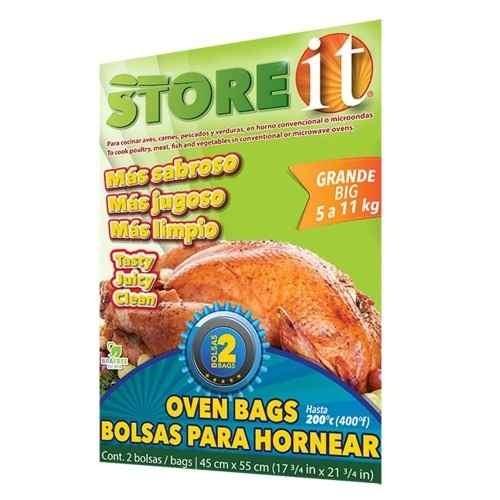 Bolsa Para Hornear Grande 45 X 55 Cm 2 Pzas 82019 Store It