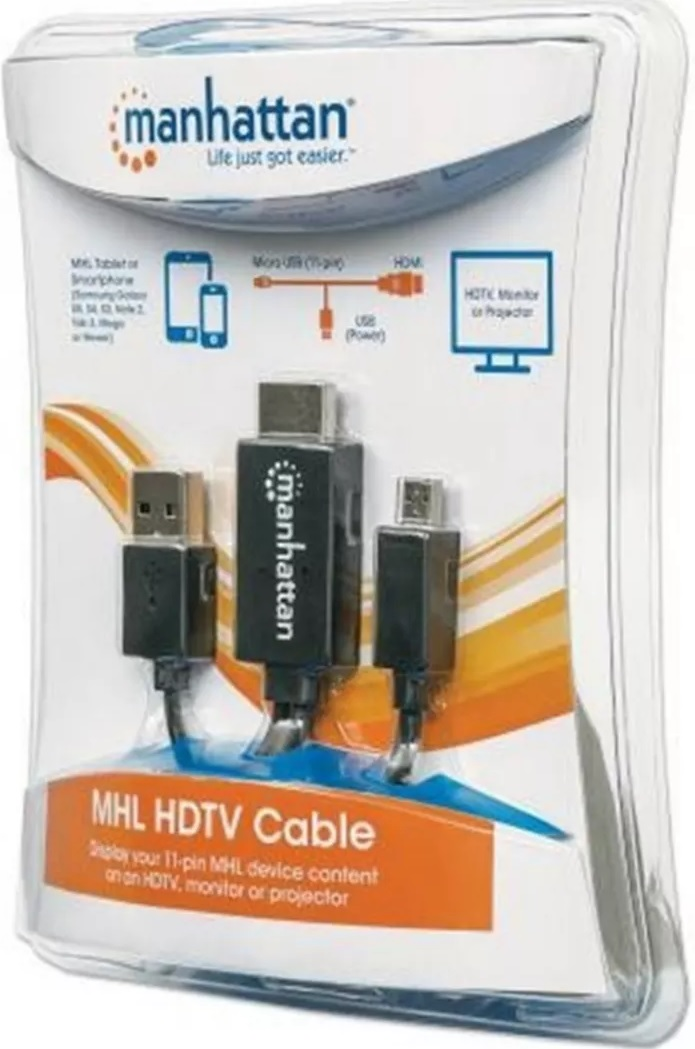 Cable MHL Micro USB A HDMIManhattan